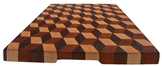 bloc de boucher bois 3d fin grain cutting board en bois. Black Bedroom Furniture Sets. Home Design Ideas