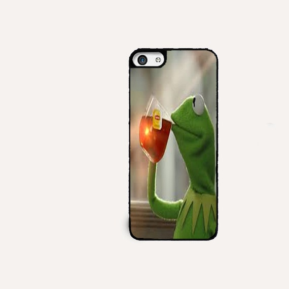 Kermit the frog drinking tea iPhone 5 cell phone caseKermit The Frog Drinking Tea