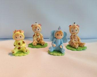Set of 4 jungle babies