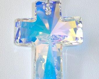 Swarovski Crystal Cross Sun Catcher / Ornament