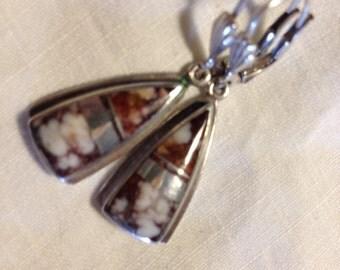 Wild Horse sterling Silver Earrings Navajo