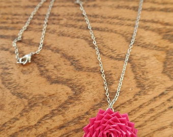 Duck tape pendant flower necklace--can make in a variety of colors