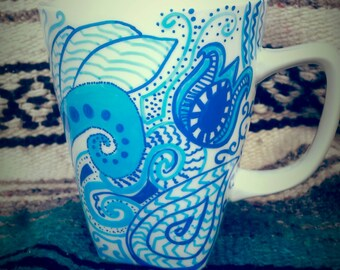 Paisley coffee cup