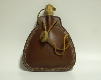 Leather Bottle / Flask - Shipping Included