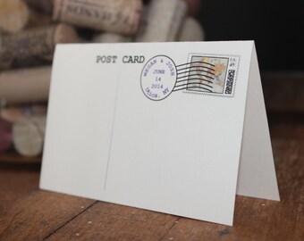 Custom Postcard Wedding Place Cards (Travel themed wedding)
