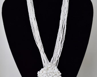 Beautiful Design Glass Beadwork Necklace