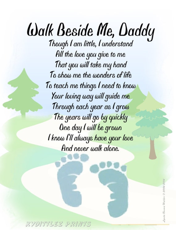 Dramatic image intended for walk with me daddy poem printable