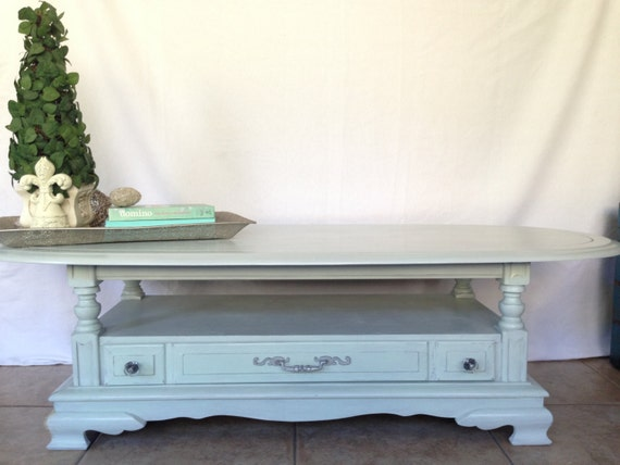 Sold Vintage Cottage Style Coffee Table With Drawer