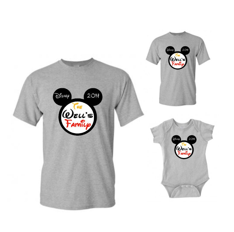 Minnie mouse and mickey disney family custom t shirt disney for Custom t shirts family vacation
