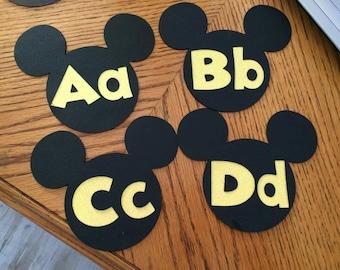 Mickey Word Wall Letters Disney Classroom Theme