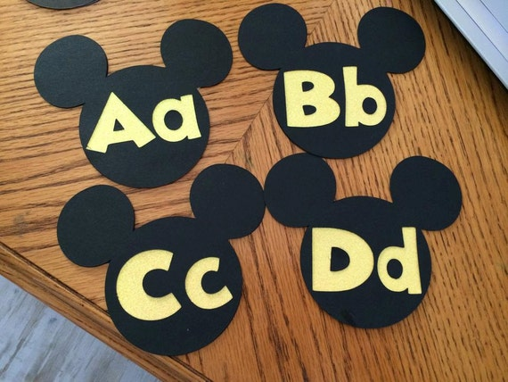 Mickey Classroom Decor ~ Mickey word wall letters disney classroom theme