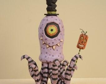 Cycloptopus Primitive Folk Art Woodcarving