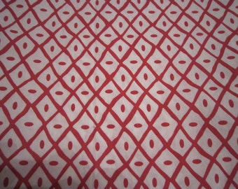 Baby Crib Sheet or Toddler Bed Sheet - Red Diamond Pattern