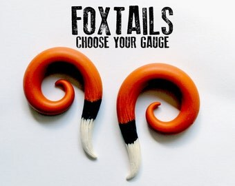 "Foxtail Earrings For Stretched Lobes - Fake, 4g, 2g, 0g, 00g, 7/16"", 1/2"", 9/16"", 5/8"", 11/16"", 3/4"", 7/8"", 1"" - Gauges - Gauged"