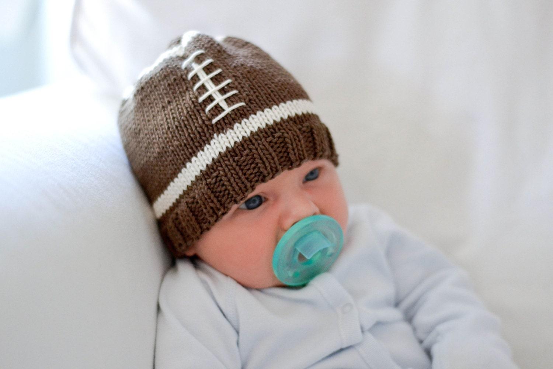 Knit Pattern Baby Football Hat : Knitting Pattern Football Baby Hat Knit Pattern