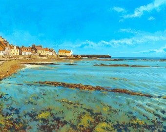 Pittenweem, East Neuk, Fife. Giclée print of the beautiful and striking fishing port, famous for its colourful appearance & art festival