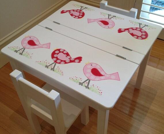 Child 39 S Bird Desk And Two Chair Set Bird Design In