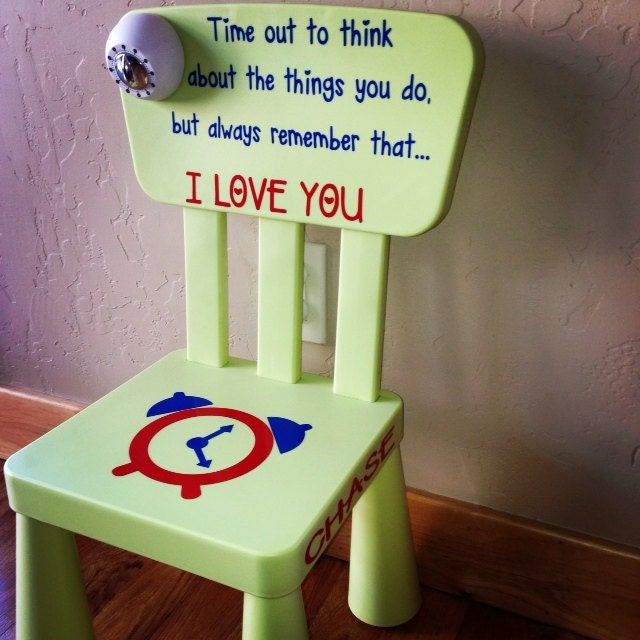 Sale Personalized Light Green Time Out Plastic Toddler Chair
