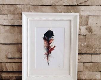 Feather art - Print of my original watercolor work