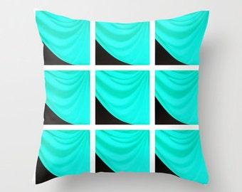 pillow cover throw pillow turquoise pillow aqua pillow tiffany blue pillow dorm decor kids decor. Black Bedroom Furniture Sets. Home Design Ideas