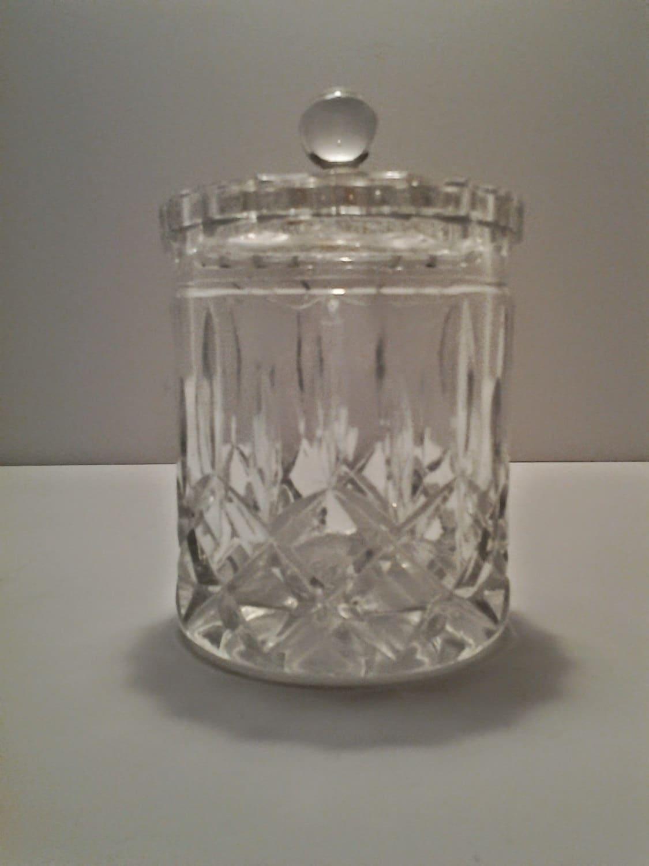 Etched Glass Q Tip Holder Vintage By Boardwalkrev On Etsy