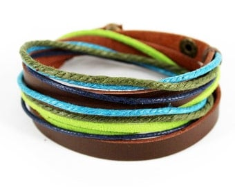 axy wrap bracelet TWIC6-6!  Leather Bracelet