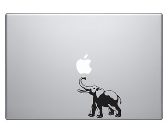 African Elephant Sillhouette Vinyl Decal Sticker Skin Macbook Pro Sticker Decal Macbook Air Sticker Decal Laptop Sticker iPad Sticker Africa