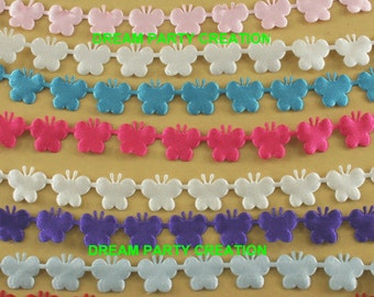 """5/8"""" Silky SATIN - BUTTERFLY Cut Out Ribbon 24 Yards CHOOSE From 9 Colors"""