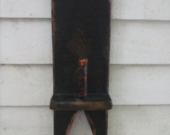 Primitive Boot Jack Candle Holder