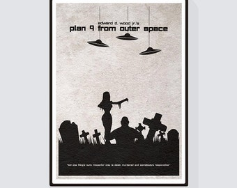 Plan 9 from Outer Space Minimalist Alternative Movie Print & Poster