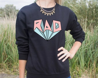 RAD Jumper Sweater Retro Pastel Surf Festival Fresh