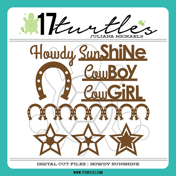 Howdy Sunshine Digital Cut File | Perfect for a variety of craft projects including paper crafting, scrapbooking and more.