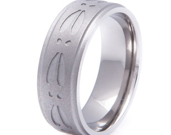 Gun Metal Deer Tracks Ring