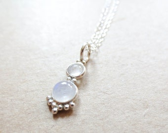 Fertility Necklace -The Fertile Moonstone in Sterling Silver, Enhancing Jewelry