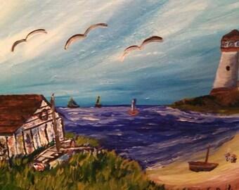 Beautiful boathouse beach scene!