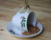 Bird Feeder - Christmas Gift - Repurposed Cup and Saucer - Gift Ideas for Kids! - Outdoor Gift - Unique Gift - Bird Lover - Gifts under 20