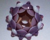 Handgemachter Glasstern in lila/rosa
