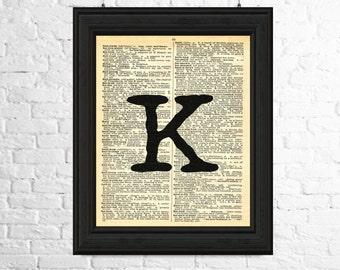 Letter k wall art | Etsy