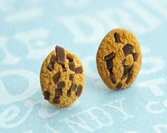 chocolate chip cookies earrings