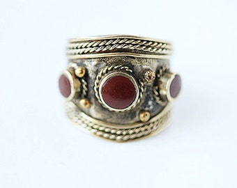 Vintage Kuchi Tribal Adjustable Ring