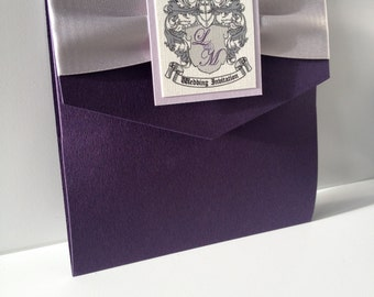 Pocketfold Wedding Invitations | Traditional | Coat of Arms | Old London