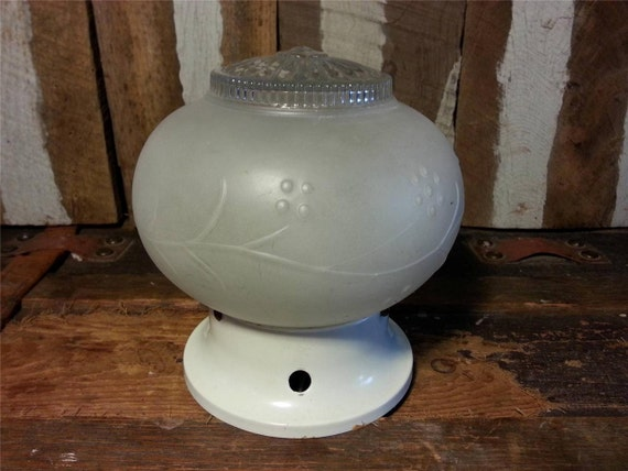 Unique Replacement Globes For Bathroom Light Fixtures: Vintage Frosted Glass Flower Art Deco Round Globe Hallway