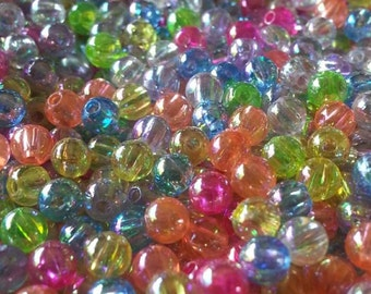 4mm Transparent AB Color Acrylic Beads