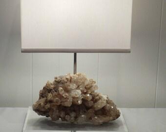 """Beautiful Quartz Crystal Lamp """"Rosa"""" //Rock Crystal Lamp//Gemstone Lamp  //Geode Lamp //Mineral Lamp"""
