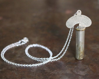 Antique Chromatic Variable Pitch Pipe Tuning Key Necklace
