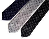 Rifle sight mens necktie. Gun scope crosshairs dot pattern. Silkscreen tie. Shotgun Wedding? Your choice of color & size. Microfiber.