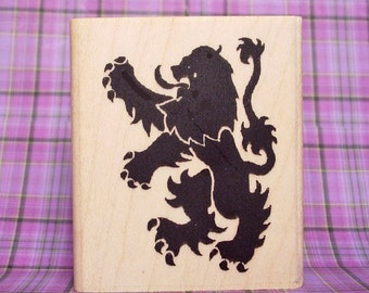 Small Scottish Rampant Lion Rubber Stamp Symbol of Scotland #107