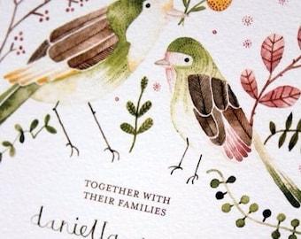 Love Birds wedding invitation set : Printable