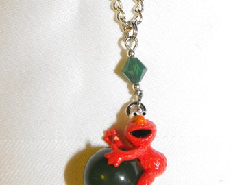 Cartoon Character Necklace with Swarovski Crystal Accent