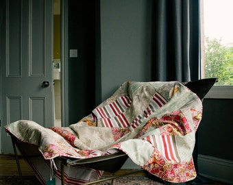 The Original summery cotton patchwork quilt, all made in GB